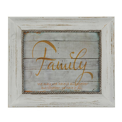 Family Wood Plank Framed Art Print