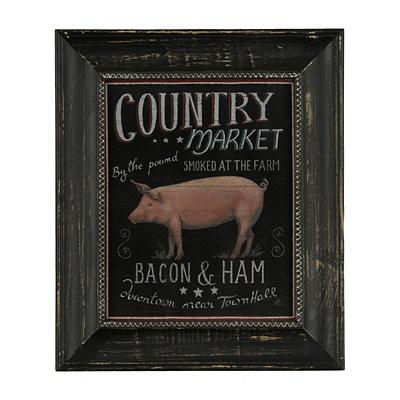 Pig Farmers Market Framed Art Print