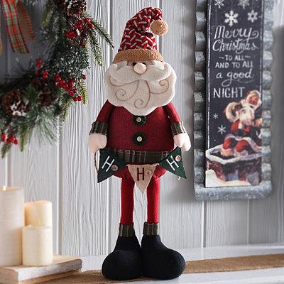 Rustic Plush Santa