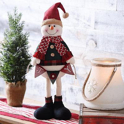 Rustic Plush Snowman