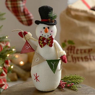 Joy Plush Tabletop Snowman