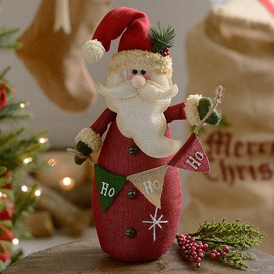 Ho Ho Ho Plush Tabletop Santa