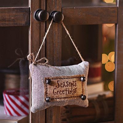 Season's Greetings Knit Door Hanger