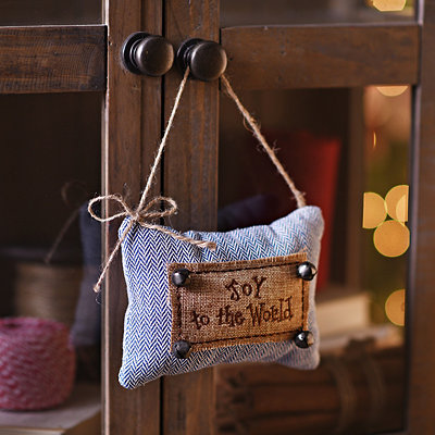 Joy to the World Knit Door Hanger