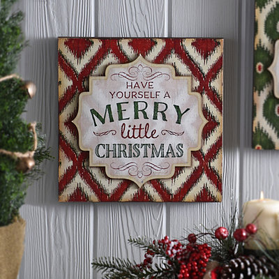Red Merry Little Christmas Plaque