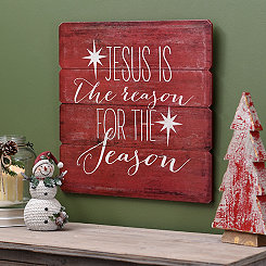 The Reason for the Season Wood Plank Plaque