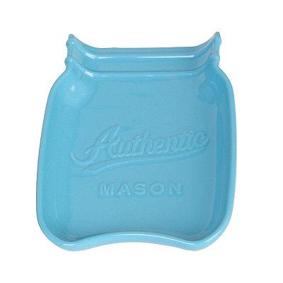 Turquoise Mason Jar Spoon Rest