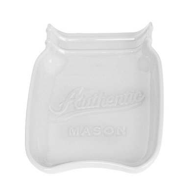 White Mason Jar Spoon Rest