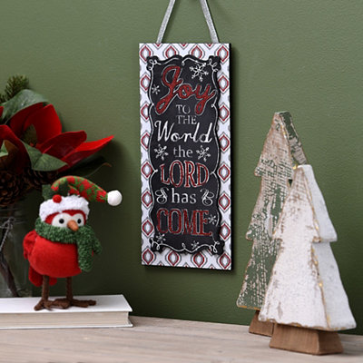 Joy to the World Chalk Art Wall Sign