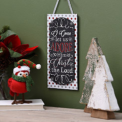Let Us Adore Him Chalk Art Wall Sign