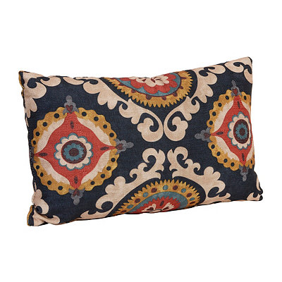 Navy Valerie Accent Pillow