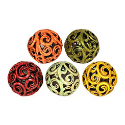 Cutout Swirl Orbs, Set of 5