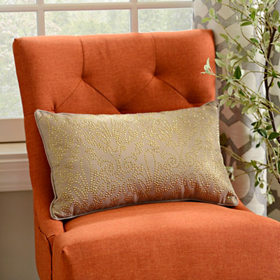 Tan Studded Juliana Accent Pillow