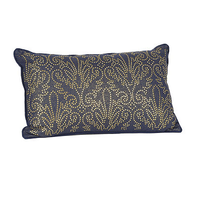 Navy Studded Juliana Accent Pillow