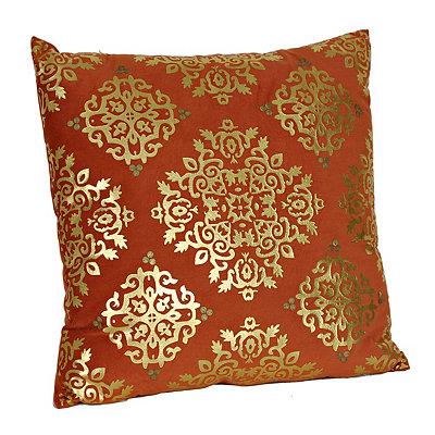 Spice Metallic Medallion Velvet Pillow