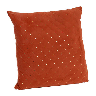 Spice Quilted Velvet Sequin Pillow