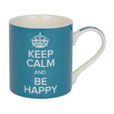 Keep Calm and Be Happy Mug