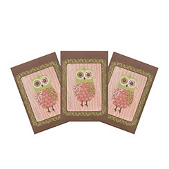 Pink Owl Sachets, 3-pack