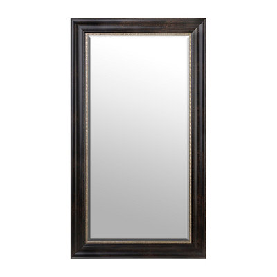 Gold Trimmed Espresso Framed Mirror, 32x56 in.