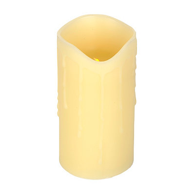 Ivory LED Flameless Pillar Candle, 7.5 in.