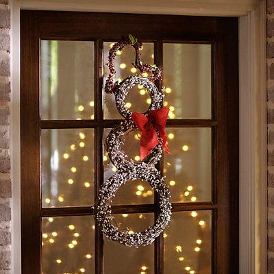 Woven Snowman Wreath
