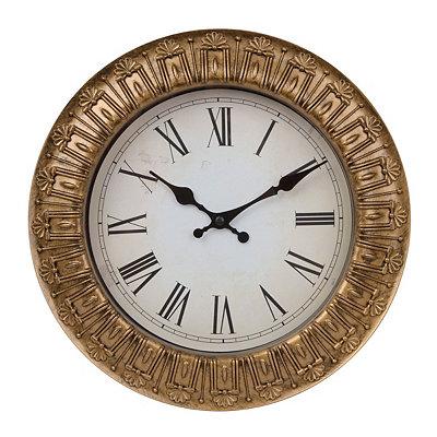 Ornate Metallic Gold Clock