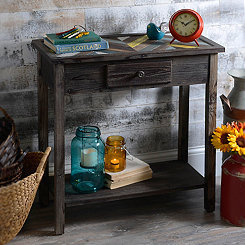 Wooden Vintage Chevron Console Table