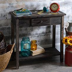 Wooden Vintage Chevron Console Table