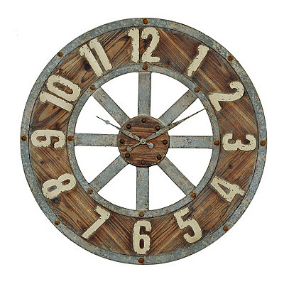 Distressed Garrison Wooden Clock