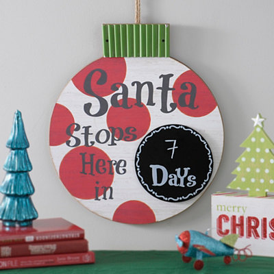 Santa Stops Here Countdown Plaque