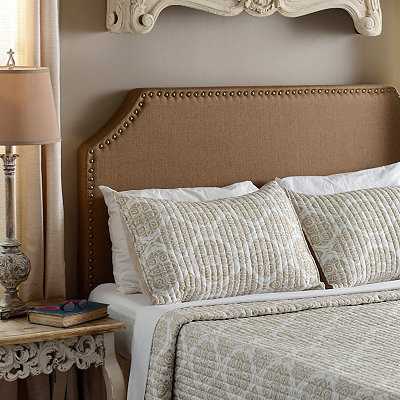 Otter Nailhead Queen Headboard