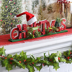 Cutout Merry Christmas Tabletop Sign
