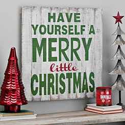 A Merry Little Christmas Barnwood Sign