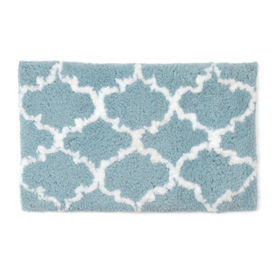 Blue and White Heavenly Bath Mat