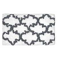 Gray and White Heavenly Bath Mat