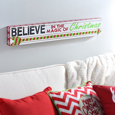 Believe in the Magic of Christmas Plaque
