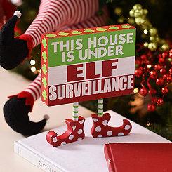 Elf Surveillance Tabletop Plaque