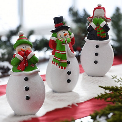 Three Wise Snowmen Statues, Set of 3