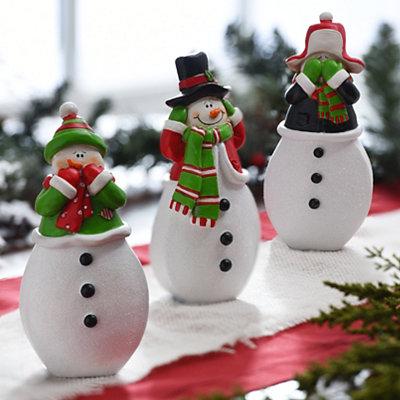 Three Wise Snowmen Statues, Set of 3