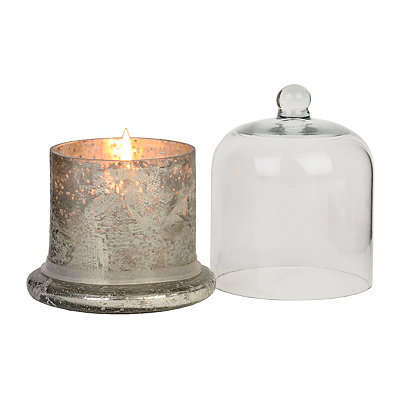 Silver Cloche Scented Candle