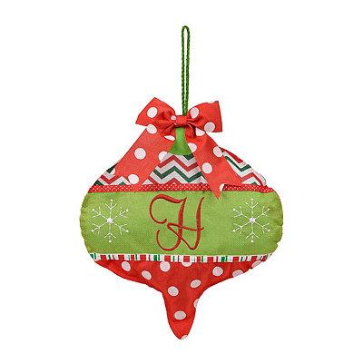 Holly Jolly Monogram H Ornament Wall Hanger