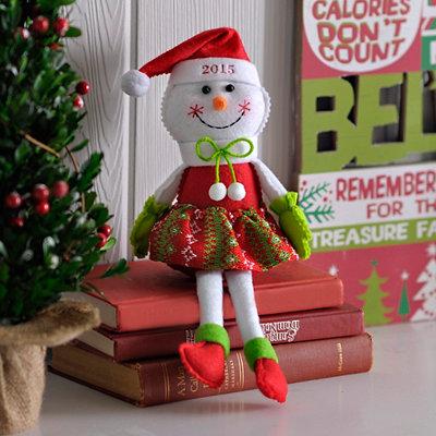 2015 Plush Girl Snowman