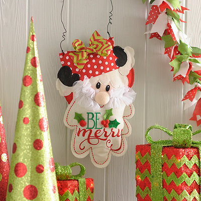 Burlap Santa Wall Hanger