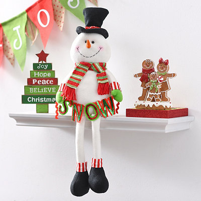 Plush Snowman Shelf Sitter