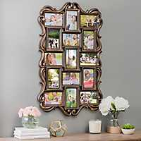 Bronze Ornate Scroll 15-Opening Collage Frame