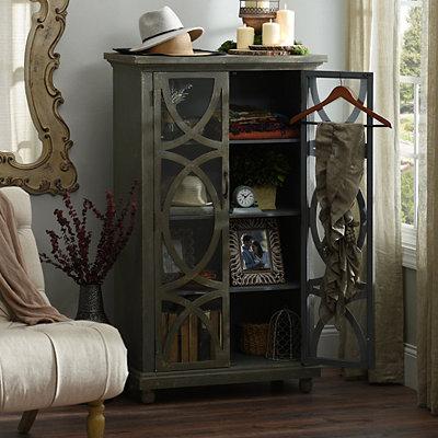 Distressed Aspen Wooden Cabinet