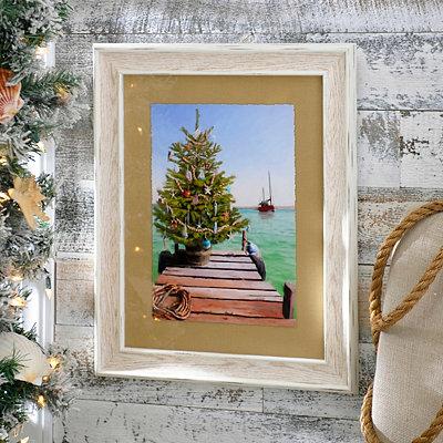 Coastal Christmas Framed Art Print