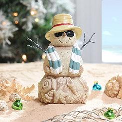 Beach Bernie Snowman Statue