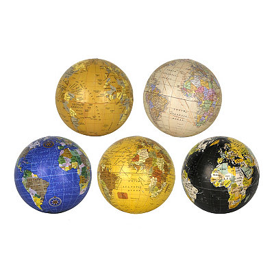 Decorative Globe Orbs, Set of 5