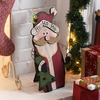 Rustic Santa Wooden Easel